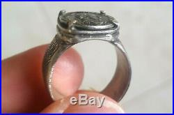 Emperor Valerian Mini Denarius Coin Sterling Silver Ancient Roman Empire Ring
