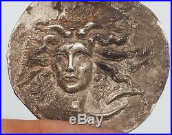 Excellent Ancient Arethusa Tetradram Syracuse Charioteer Reins silver coin #A149
