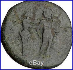 FAUSTINA II Jr. 164AD VENUS grabs at MARS Lover Couple Ancient Roman Coin i42195