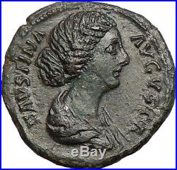 Faustina I wife of Marcus Aurelius Ancient Roman Coin DIANA LUNA Hope i27364