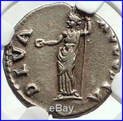 GALBA 69AD RARE Authentic Ancient Silver Roman Coin w Livia NGC Certified XF