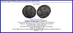GALLIENUS Original 267AD Rome Authentic Ancient Roman Coin w GRIFFIN i66932