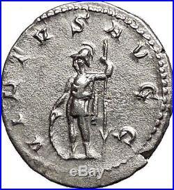 GALLIENUS son of Valerian I Silver Rare Ancient Roman Coin Virtus Cult i55703