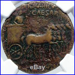 GERMANICUS Father of CALIGULA Authentic Ancient 40AD Rome Roman Coin NGC i82890
