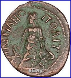 GETA Marcianopolis Ancient Roman Coin Asclepius son of Apollo Healing i48344