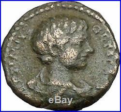 GETA as Caesar 202AD Authentic Ancient Roman Coin Lituus, jug, knife i41312