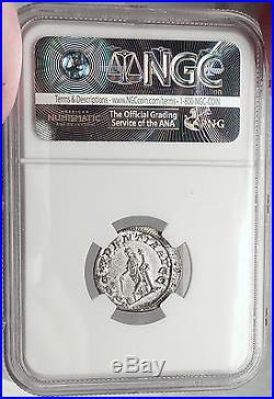 GORDIAN II AFRICANUS 238AD Authentic Ancient Silver Roman Coin VERY RARE NGC AU