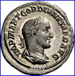 GORDIAN II AFRICANUS 238AD Rome RARE Ancient Silver Roman Denarius Coin NGC AU