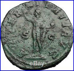 GORDIAN III 240AD Sestertius Big Ancient Rare Roman Coin SOL SUN Rare i55111