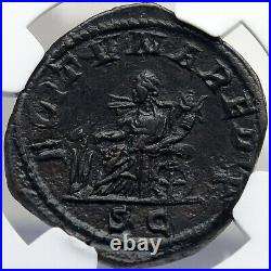 GORDIAN III Authentic Ancient 243AD SESTERTIUS Roman Coin FORTUNA NGC i82694