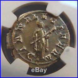 GORDIAN III Roman Empire Silver NGC MS Denarius Ancient Diana Holding Torch Coin