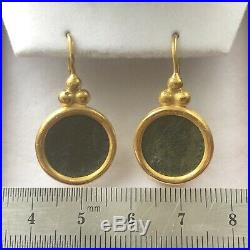 GURHAN Ancient Roman coin earrings in 24k gold