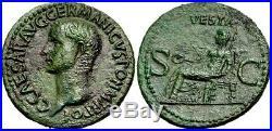 Gaius (Caligula) Exceptional As. Struck AD 37-38. Ancient Roman Bronze Coin