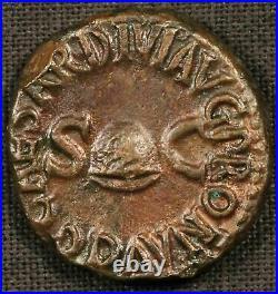 Gaius (Caligula) Quadran 41 A. D. Roman Bronze Coin Free Shipping USA