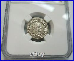 Gallienus Roman Empire NGC MS AD 253-268 BI Double Denarius Ancient Coin