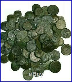 Greek, Roman Ancient Imperial Bronze Coins. Circa. (450 BC 250 AD) 20 Coin Lot