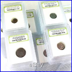 Group Lot of 175 Slabbed Ancient Coins- Roman, Widows Mite Sized, Greek & Pirate