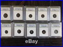 Group Lot of 60 Slabbed Ancient Coins- Roman, Widows Mite Sized and Greek