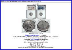 HADRIAN Ancient Silver Didrachm Caearea Cappadocia Roman Coin CLUB NGC i81358