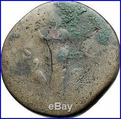 HADRIAN Authentic Ancient 117AD Rome SESTERTIUS Genuine Roman Coin i79168