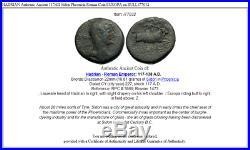 HADRIAN Authentic Ancient 117AD Sidon Phoenicia Roman Coin EUROPA on BULL i77032