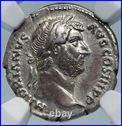 HADRIAN Travels to EGYPT Authentic Ancient Rome Silver Roman Coin NGC i84996