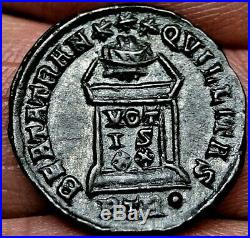 HIGH GRADE CONSTANTINE I. ALTER-VOTIS XX, 322 AD. 19mm, 3.1g, Ancient Roman Coin