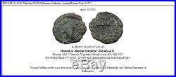 HONORIUS 404D Christian CROSS Genuine Authentic Ancient Roman Coin i31573