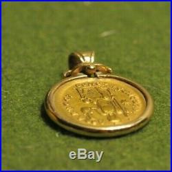 HONORIUS Authentic Ancient 408AD Genuine GOLD Roman Coin in 14k Bezel