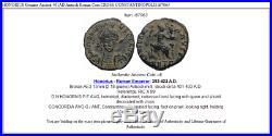 HONORIUS Genuine Ancient 401AD Antioch Roman Coin CROSS CONSTANTINOPOLIS i67063