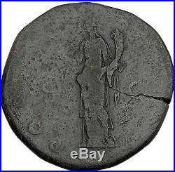 Hadrian 119AD Big Sestertius Ancient Roman Coin Good Luck Cult Wealth i42136
