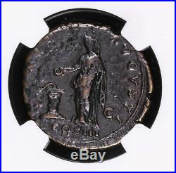 Hadrian Ae As 117 138 Ad Roman Empire Ancient Coin Vesta Standing Left Alta