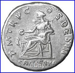 Hadrian Ar Denarius old ancient roman silver coin Rome Empire Imperial Authentic