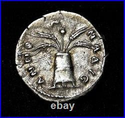 Hadrian. Exquisite Rare Denarius circa 134-138 AD. Ancient Roman Silver Coin