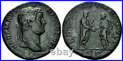 Hadrian. Exquisite Scarce Sestertius circa AD 134-138 Ancient Roman Bronze Coin