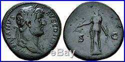 Hadrian. Stunning Æ Sestertius circa AD 134-138. Ancient Roman Bronze Coin
