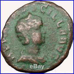 Herennia Ancient Viminacium MOESIA Roman Coin Bull & Lion Legion i33975 RARE