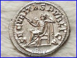 High Grade- GORDIAN III 238AD Ancient Silver Denarius Roman Coin Security Cult