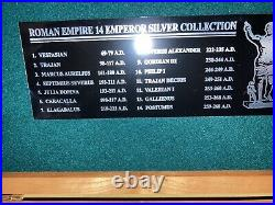 Impressive Set of 14 ANCIENT ROMAN Emperor & Empress SILVER COINS Deluxe Case