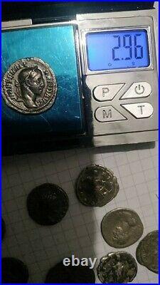J-07 Lot of 9 Pcs Silver Ancient Roman Denar and Antoninian Coins NICE CONDITION