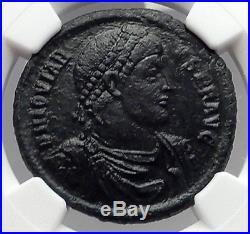 JOVIAN 363AD AE1 Large Authentic Ancient Roman Coin Chi-Rho Labarum NGC i59846
