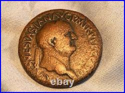 JUDAEA CAPTA, VESPASIAN Sestertius S-786 ANCIENT JEWISH / ROMAN COIN 1st REVOLT