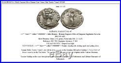 JULIA DOMNA 196AD Ancient Silver Roman Coin Venus Felix Lucky Venus i54160