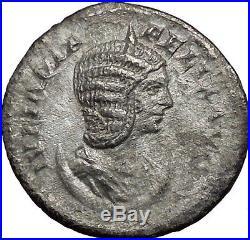 JULIA DOMNA 215AD Silver Ancient Roman Coin Luna driving horse biga i33565 RARE