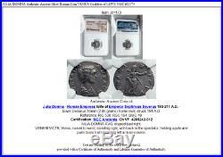 JULIA DOMNA Authentic Ancient Silver Roman Coin VENUS Goddess of LOVE NGC i81173
