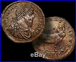 JULIAN II The Apostate Coin Roman Emperor / BULL 360-363 AD. RARE AE1 + COA