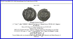 JULIAN II the APOSTATE 361AD Ancient Roman Coin Wreath of success i53002