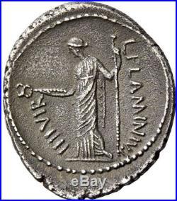 JULIUS CAESAR Portrait 41BC Authentic Ancient Silver Roman Coin 1907 PEDIGREE