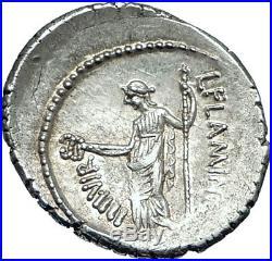 JULIUS CAESAR Portrait 41BC Rome Authentic Ancient Silver Roman Coin VENUS