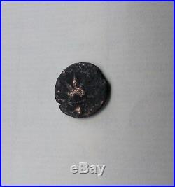 Jewish Revolt Against the Romans 66 CE Autenthic Rare Ancient Bronze Coin Prutah